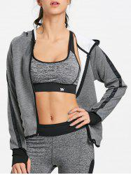 Zip Up Hooded Jacket pour les sports -