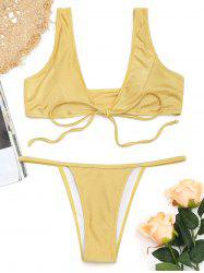 Ensemble Bikini String avec Attaches sur le Devant -