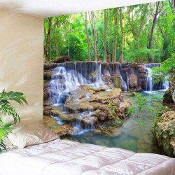 Forest Stream Landscape Wall Hanging Tapestry -