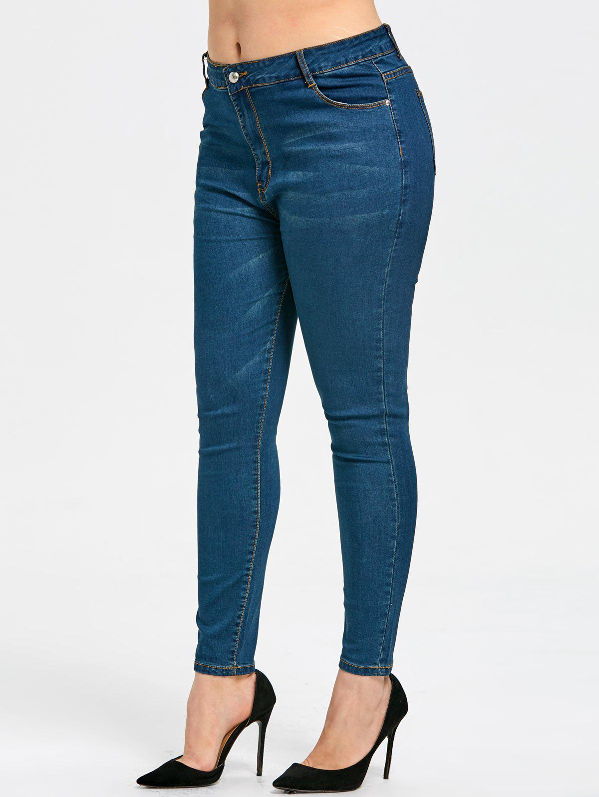 Latest Plus Size Basic Slim Fit Jeans