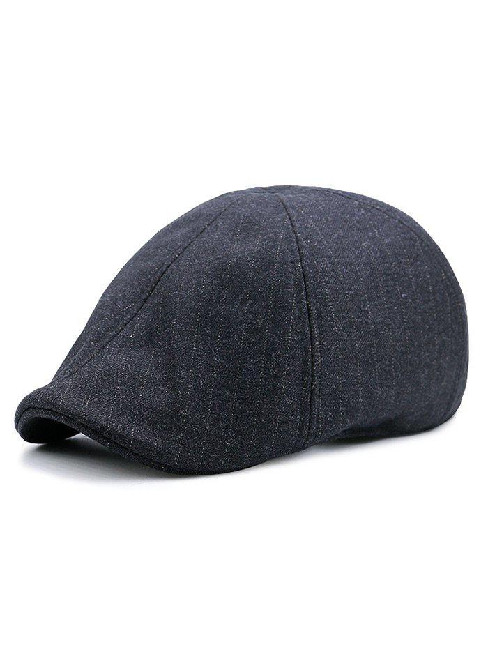 Hot Simple Herringbone Pattern Adjustable Duckbill Hat