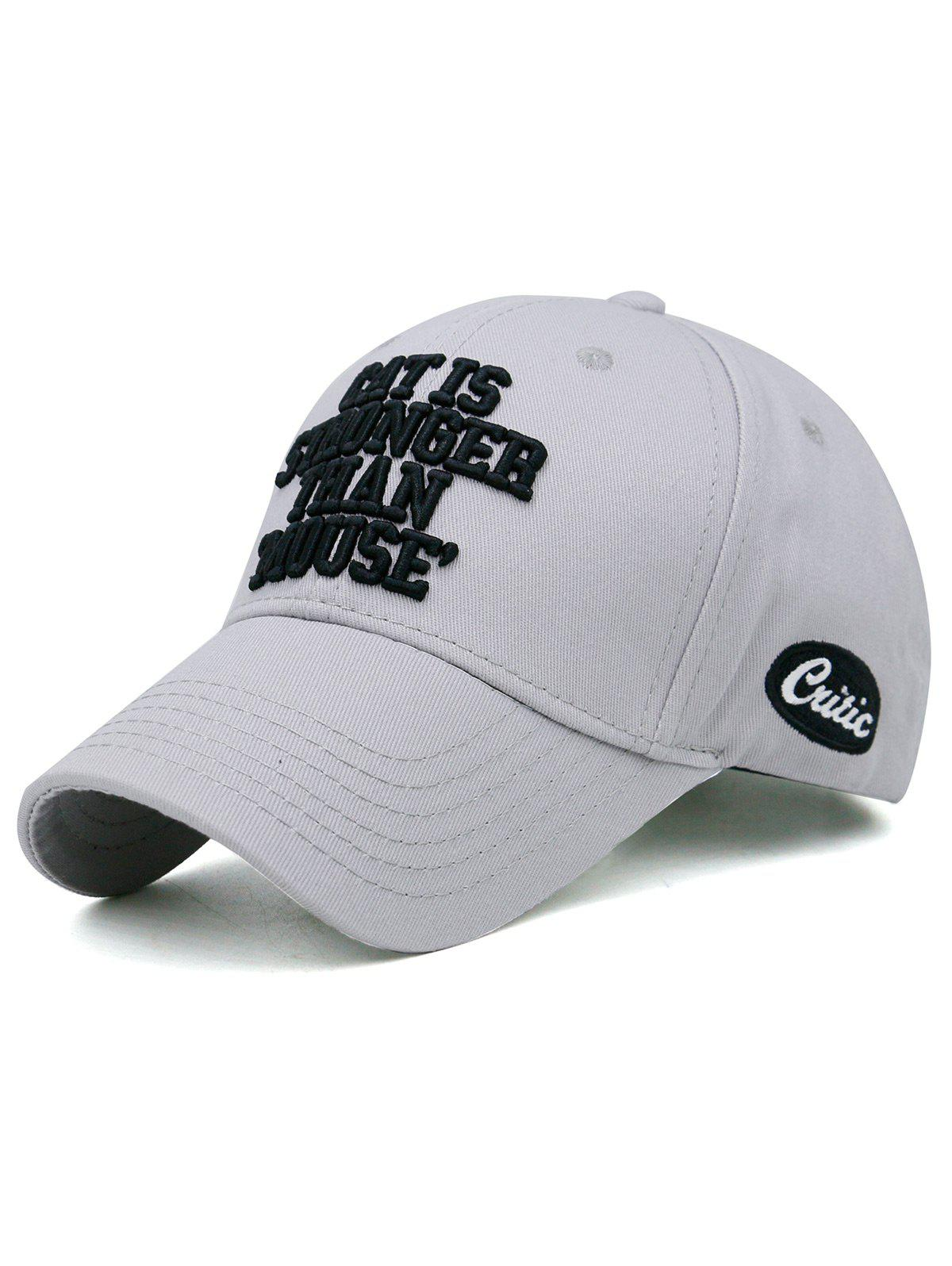 Latest CAT IS STRONGER THAN MOUSE Embroidery Adjustable Baseball Hat