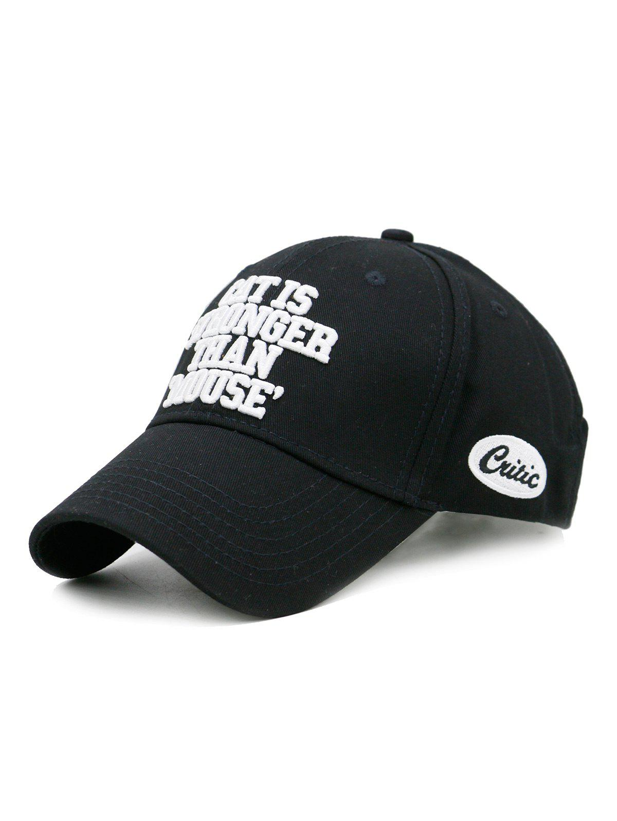 Buy CAT IS STRONGER THAN MOUSE Embroidery Adjustable Baseball Hat