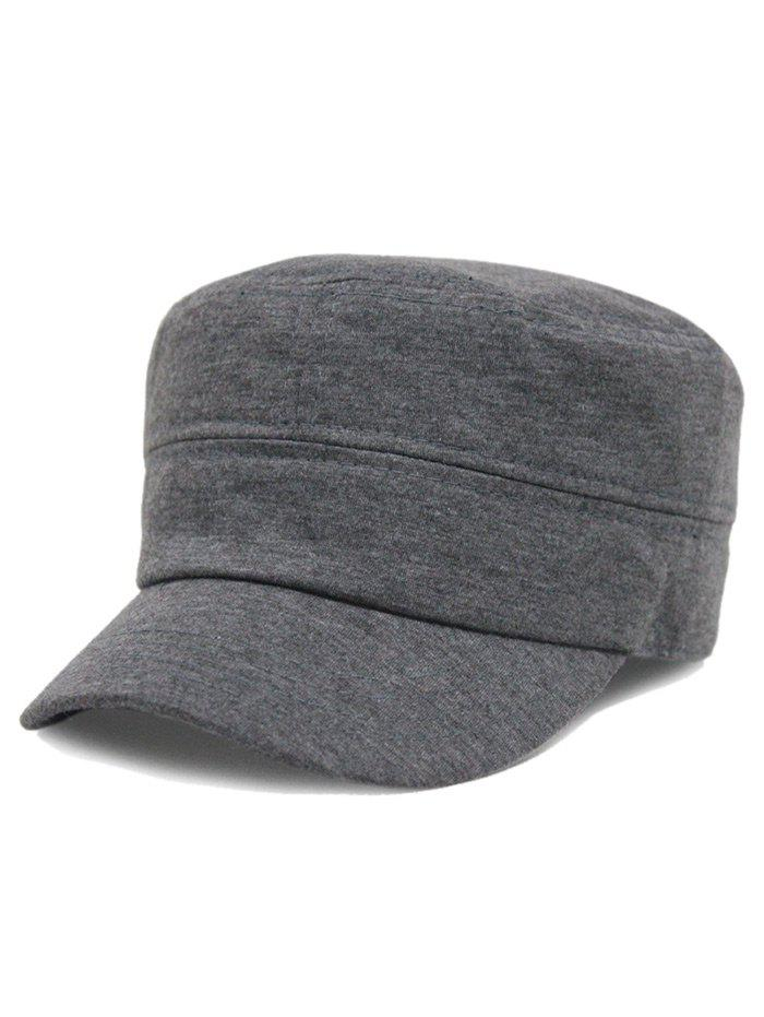 Online Simple Line Embroidery Embellished Military Hat