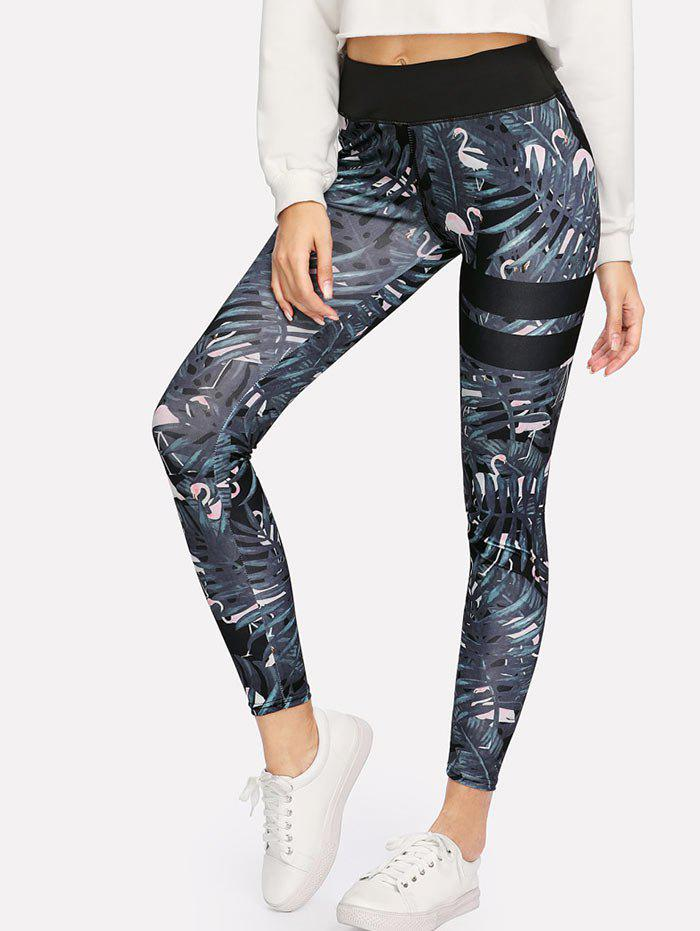Outfits Tropical Print Skinny High Waisted Yoga Leggings
