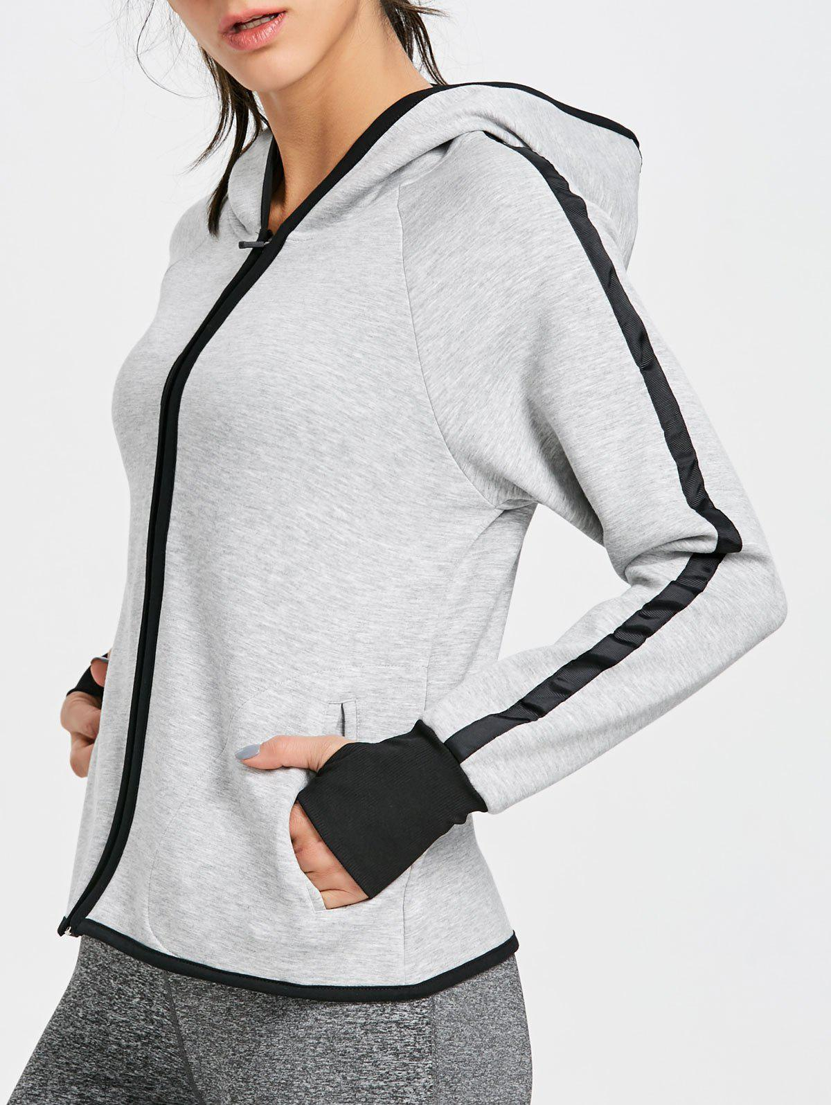 Zip Up Hooded Jacket pour les sports