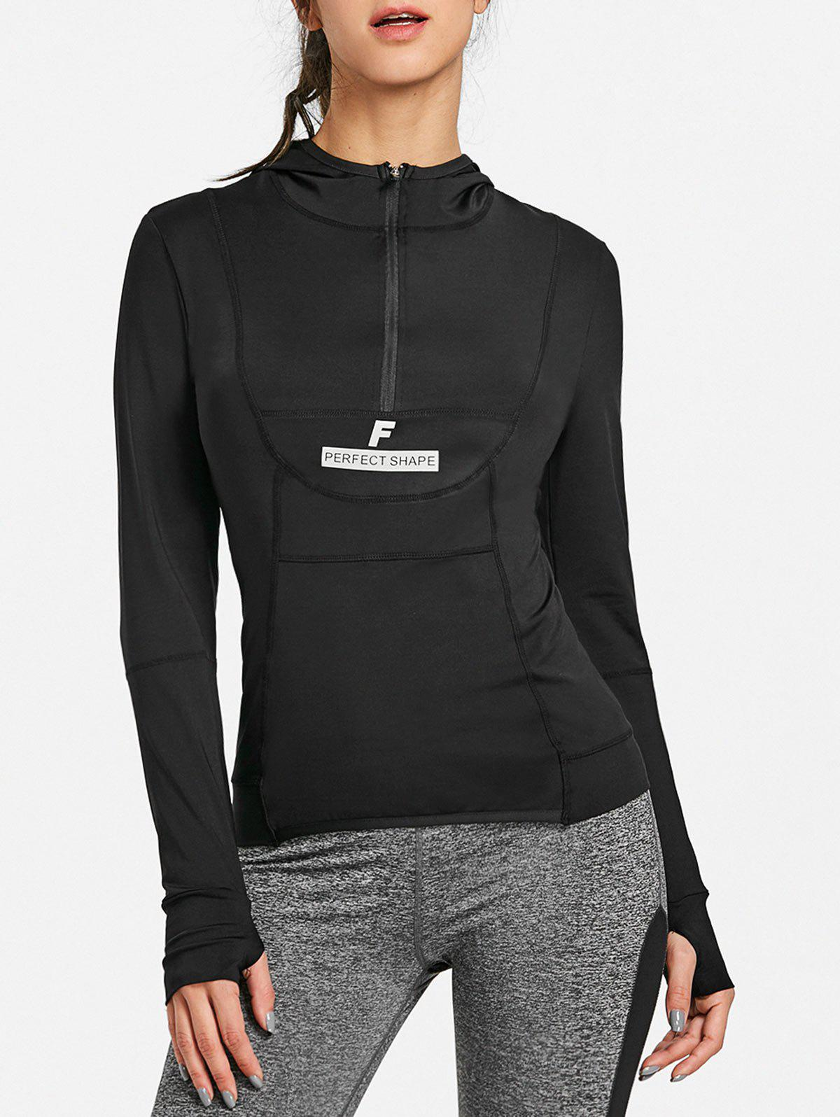 Best Sports Half Zip Up Long Sleeve Tee