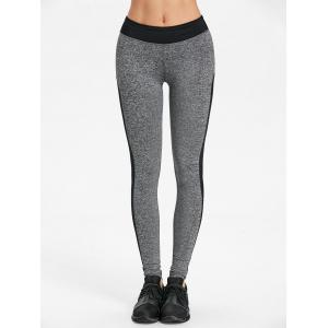 Two Tone Heather Skinny Leggings -