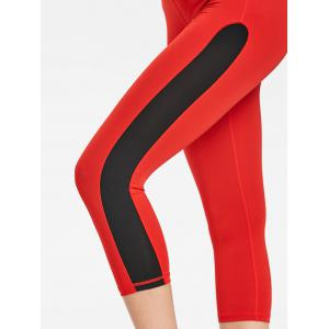 Cropped Two Tone Sports Leggings -