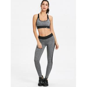 Criss Cross Heather Workout Bra -