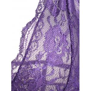 Mesh Lace Slip Caged Babydoll -