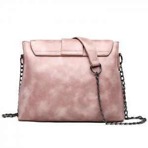 Belt Buckled Chain Strap Crossbody Bag -
