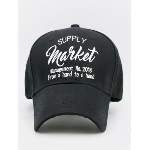 Simple Letter Sentences Embellished Baseball Hat -