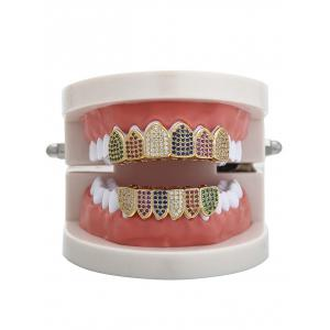 Rhinestone Sparkly Top и Bottom Teeth Grillz Set -