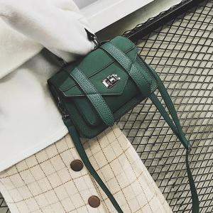 Stitching Flap Crossbody Bag with Handle -
