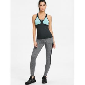 Racerback Color Block Sports Tank Top -
