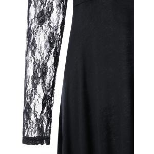 Lace Panel Maxi High Low Dress -