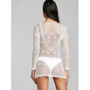 Voir à travers la dentelle Mini Cover Up Dress -