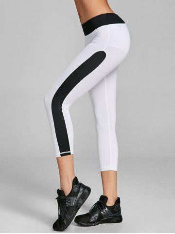 Hot Cropped Two Tone Sports Leggings