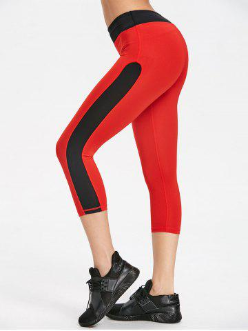 Trendy Cropped Two Tone Sports Leggings