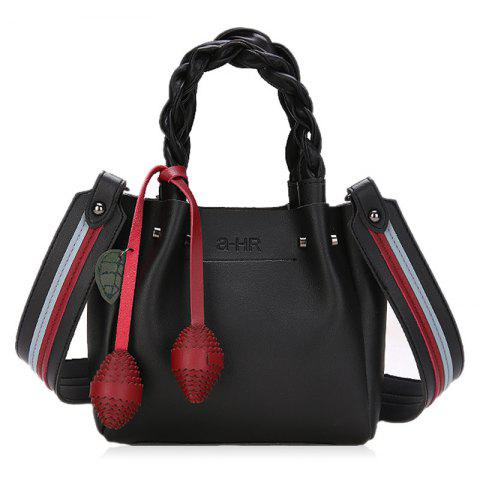 Trendy Scallop Ball Braid PU Leather Crossbody Bag