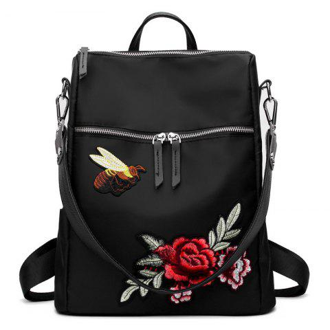 Store Flower Embroidery Bee Multipurpose Backpack
