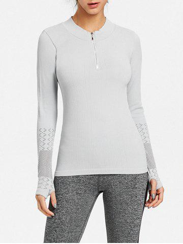 Buy Breathable Half Zip Up Sports T-shirt