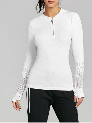 Discount Breathable Half Zip Up Sports T-shirt