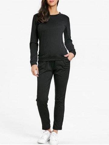 Discount High Waisted Drawstring Sweat Suits