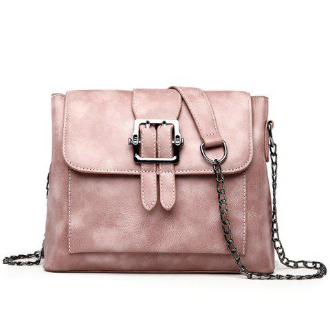Affordable Belt Buckled Chain Strap Crossbody Bag