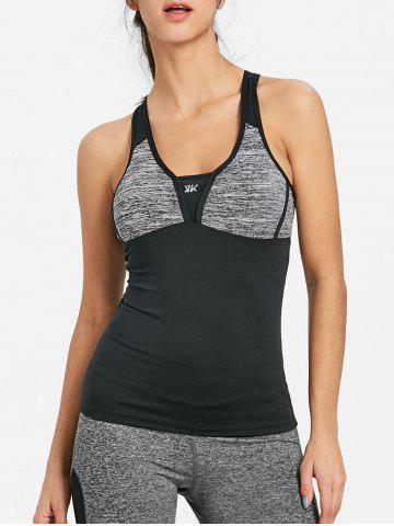 Racerback Color Block Sports Tank Вверх
