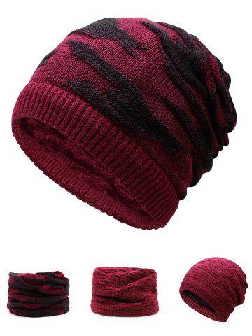 Fancy Multifunctional Empty Top Reversible Knitted Beanie