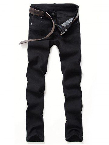 Buy Classical Zipper Fly Straight Leg Denim Pants