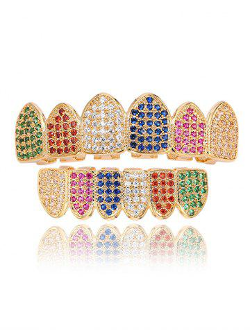Rhinestone Sparkly Top и Bottom Teeth Grillz Set