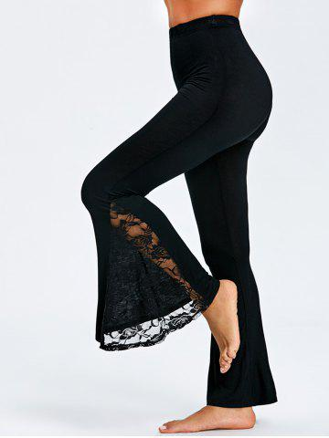 Discount Lace Trim Flare Pants