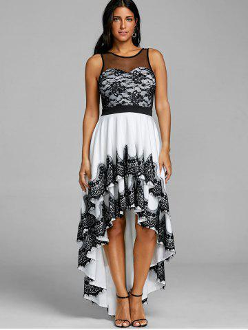 Cascading High Low Hem Maxi Dress