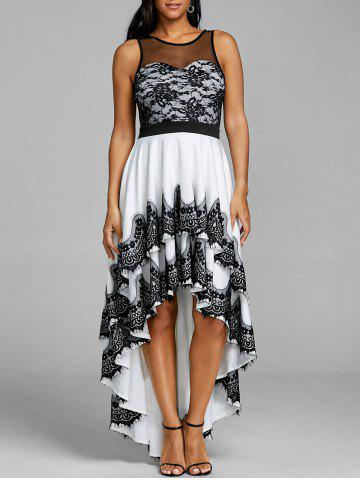 Cheap Cascading High Low Hem Maxi Dress