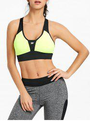 Racerback Two Tone Sports Bra -