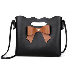 Hollow Out Bow Crossbody Bag -