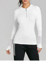 Breathable Half Zip Up Sports T-shirt -