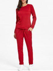 High Waisted Drawstring Sweat Suits -