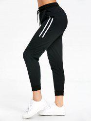 Stripe Panel Drawstring Sports Joggers Pantalons -