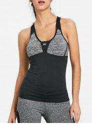 Racerback Color Block Sports Tank Вверх -