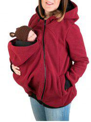 Baby Pouch Zip Up Hoodie -