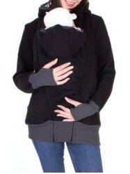 Zip Up Baby Holder Hoodie -