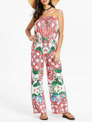 Floral Strapless Tube Jumpsuit -