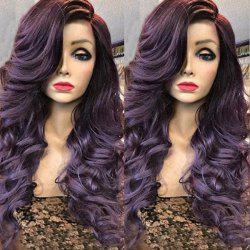 Deep Side Parting Long Wavy Curly Synthetic Wig -