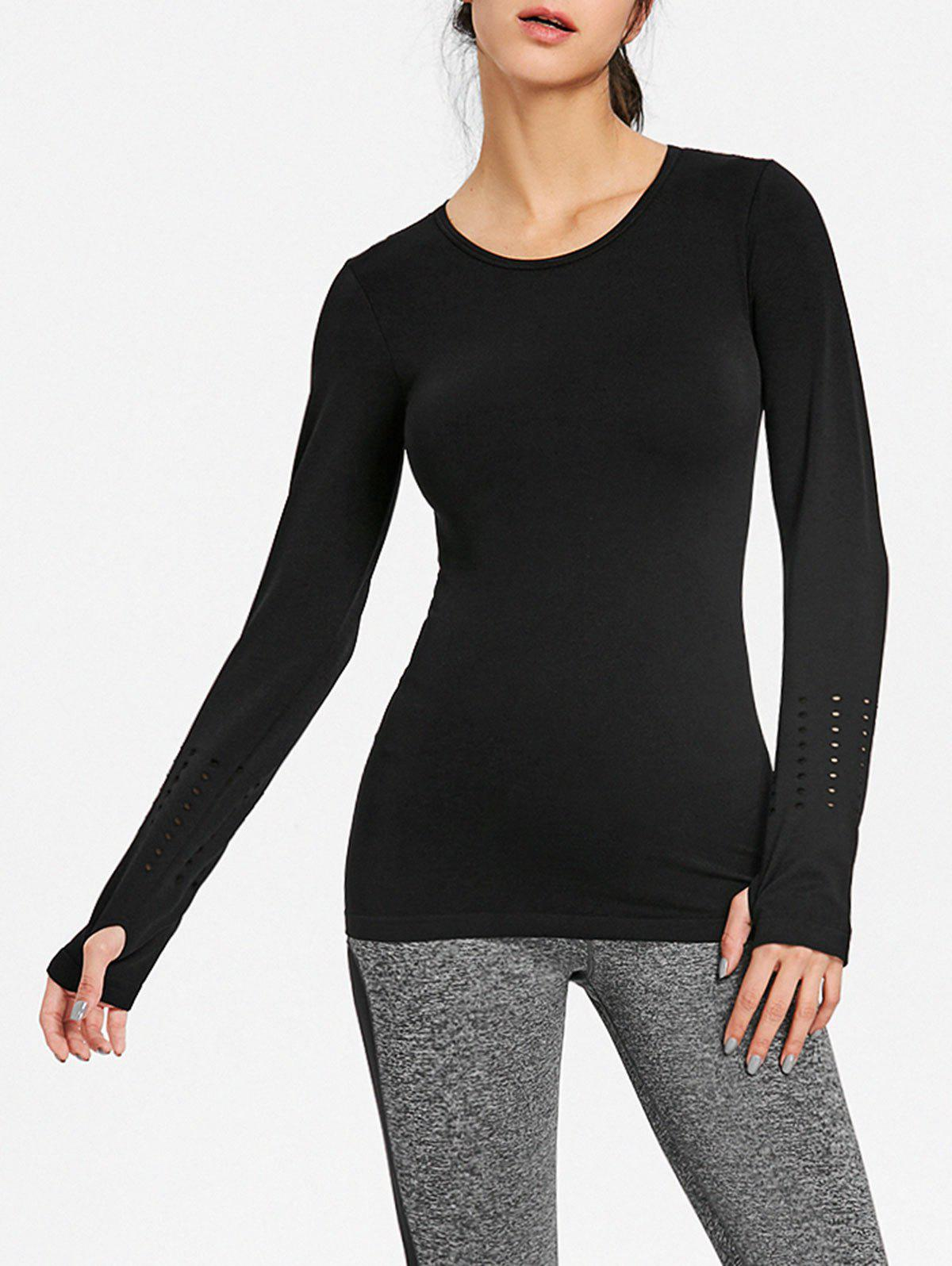 Affordable Breathable Skinny Sports Long Sleeve T-shirt