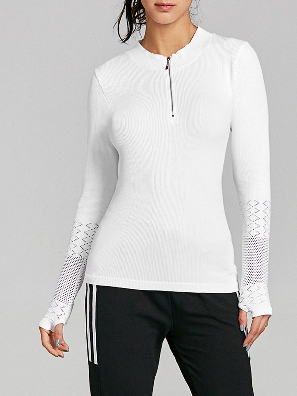 Trendy Breathable Half Zip Up Sports T-shirt