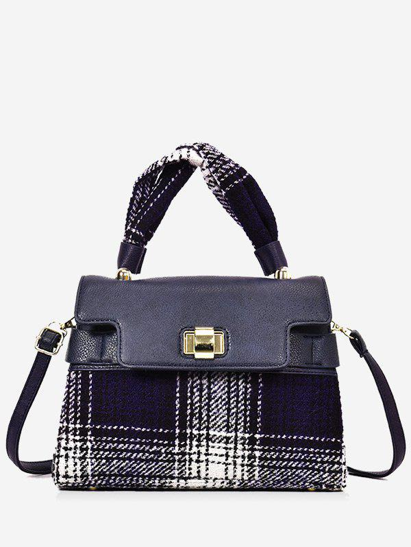 Buy Contrasting Color Plaid Handbag